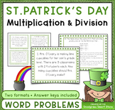 St. Patrick's Day Math Activities: Multiplication & Divisi