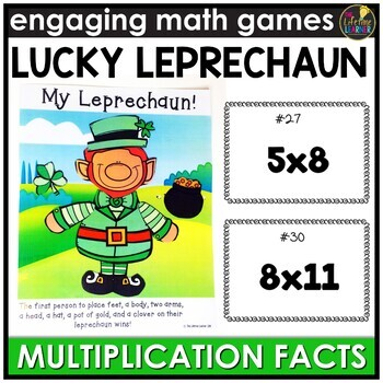 Saint Patrick's Day Multiplication Facts Game