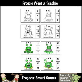 """St.Patrick's Day--Multiplication """"Just Clip n' Learn Monsterrific Facts"""""""