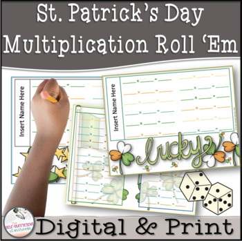 St. Patrick's Day Multiplication Roll 'Em