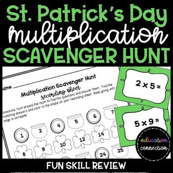 St. Patrick's Day Multiplication Scavenger Hunt