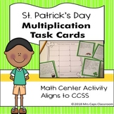 St. Patrick's Day Multiplication Task Cards Freebie 3rd Grade