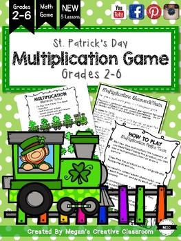 St. Patrick's Day Multiplication Train Game