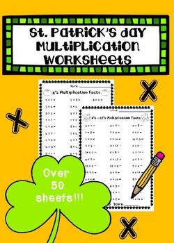 St. Patrick's Day Multiplication Worksheets