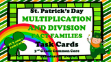 St. Patrick's Day Multiplication and Division Fact Family Task Cards
