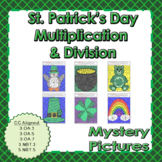 St. Patrick's Day Multiplication and Division Mystery Pictures