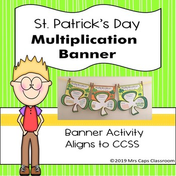 St. Patrick's Day Multiplication and Division Task Cards