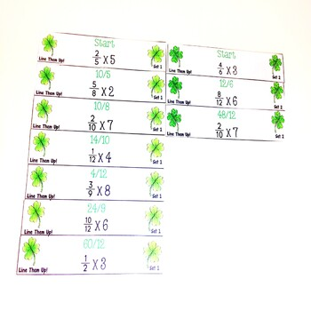 St. Patrick's Day Multiply Fractions by Whole Numbers Game