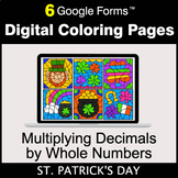 St. Patrick's Day: Multiplying Decimals by Whole Numbers -