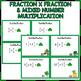 St Patrick's Day Multiplying Fractions Task Cards