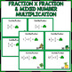 Multiplying Fractions Task Cards (St Patrick's Day)