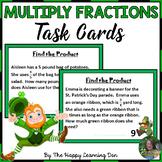 Multiplying Fractions Task Cards (St. Patrick's Day)