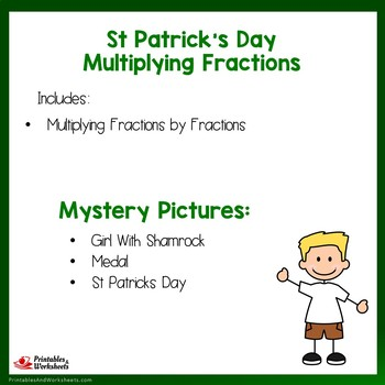St. Patrick's Day Multiplying Fractions by Fractions