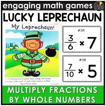 Saint Patrick's Day Multiplying Fractions by Whole Numbers Game