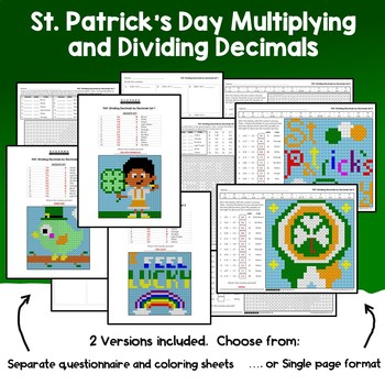 St. Patrick's Day Multiplying and Dividing Decimals