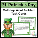 St. Patrick's Day Multistep Word Problem Task Cards (Grade 4)