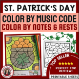 St Patrick's Day Music Activities: 26 St Patrick's Day Music Coloring Pages
