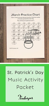 St. Patrick's Day Music Activity Bundle