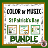 St Patrick's Day Music Coloring Pages Bundle