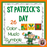 St Patrick's Day Music Coloring Sheets: 26 Music Symbols C