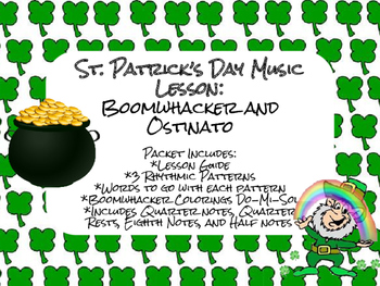 St. Patrick's Day Music Lesson: Boomwhacker and Ostinato