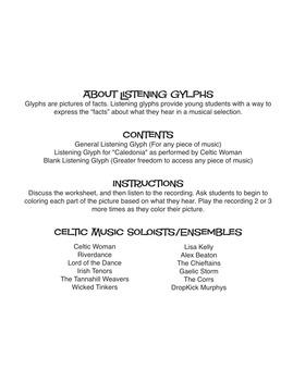 St. Patrick's Day Music Listening Glyph (Digital Print)