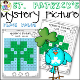 St. Patrick's Day ● Mystery Picture #7 ● Hundreds Chart ● Place Value