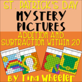 St. Patrick's Day Mystery Pictures Addition and Subtraction Within 20