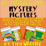 St. Patrick's Day Mystery Pictures Basic Multiplication and Division Facts