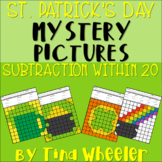 St. Patrick's Day Mystery Pictures Subtraction Within 20 ~ Fact Fluency