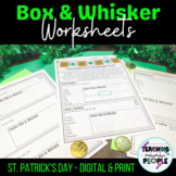St. Patrick's Day Box and Whisker Plot Practice   5 Number Summary   Digital