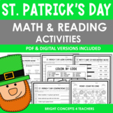 St. Patrick's Day NO PREP Math and Reading Activities {Pri