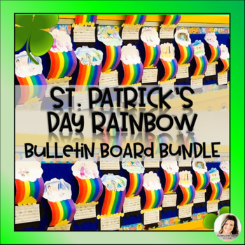 St. Patrick's Day NO PREP Rainbow Pot of Gold Bulletin Board Writing Craft K 1 2