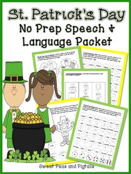 St. Patrick's Day NO PREP Speech and Language Activities