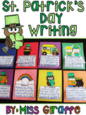 St. Patrick's Day Writing Crafts NO PREP