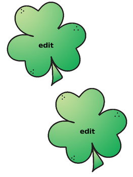 St. Patrick's Day Name Tags & Locker Labels (Editable)