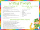St. Patrick's Day Napkin Book Writing Prompts