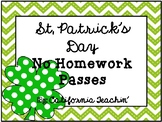 St. Patrick's Day No Homework Passes {I'm so lucky to have