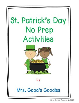 St. Patrick's Day No Prep Activities