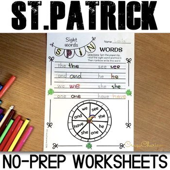 St. Patrick's Day Literacy Activities for K-2
