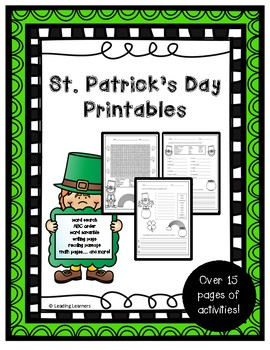 St. Patrick's Day No Prep Printables (More than 15 pages!)