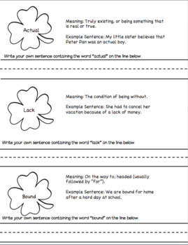 St. Patrick's Day No Prep Reading Comprehension and Vocabulary Activity
