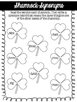 St. Patrick's Day No Prep Speech and Language Packet