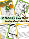 St. Patrick's Day Close Reading March Reading Comprehension