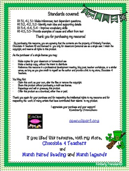 St. Patrick's Day Nonfiction Passages with Printables