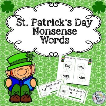 St. Patrick's Day Nonsense Word Fluency
