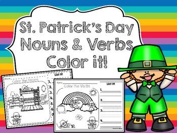 St. Patrick's Day Noun & Verb Color it