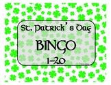 St. Patrick's Day Number Bingo 1-20