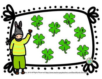 St Patrick's Day Number Bingo for Spanish Class