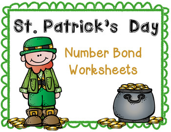 St.Patrick's Day Number Bonds Worksheet Set